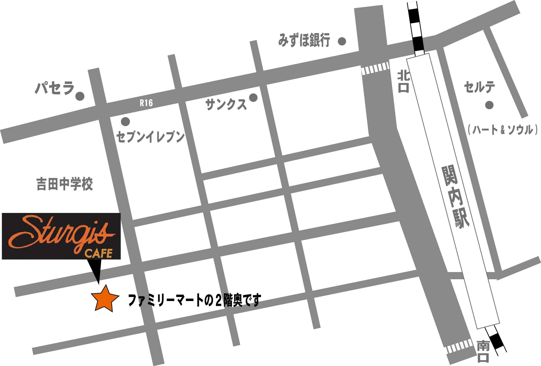 関内スタージスカフェイラスト地図web